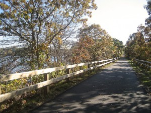 Scenic Cape Cod Rail Trail