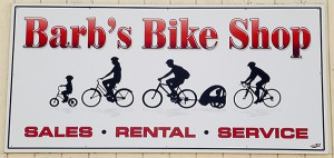 Barbs Bike Shop sign