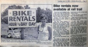 Barb's Bike Shop - Dennis Bulletin circa 1989